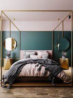 10 Bedroom Trends for 2019 - Schlafzimmer Design 2018 - Bedroom Decor Bedroom Wall Paint Colors, Farmhouse Master Bedroom, Master Bedrooms, Bedroom Rustic, Luxurious Bedrooms, Modern Bedrooms, Luxury Bedrooms, Luxury Bedding, Modern Canopy Bed