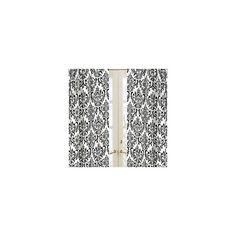 Isabella Black and White Damask Curtains - Set of 2 Panels - BabyBeddingZone.com ($50) found on Polyvore