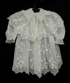 Child's embroidered organdy coat, circa 1910, from the Vintage Textile archives.