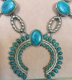 Vintage Native American Indian Squash Blossom Necklace