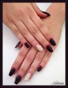 Ballerina shaped gel nails