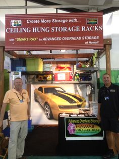 Learn how Advanced Overhead Storage creates a captivating trade show booth on a budget  #marketing #tradeshow #banners
