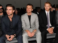 Chace, Ryan and Kellan all in suits.