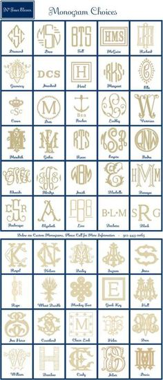 Monograms from No. Four Eleven by lela
