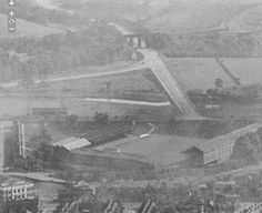 Sheffield Wednesday football ground & Herries Road going through the 5 arches railway bridge