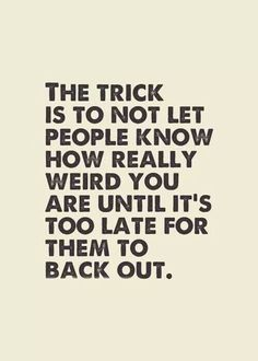 The trick is...
