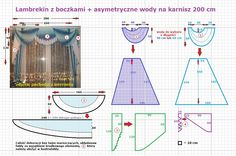 Firany i Lambrekiny - untitled. Home Curtains, Curtains With Blinds, Curtain Patterns, Curtain Designs, Fold Bed Sheets, Curtain Tutorial, Diy Wardrobe, Crochet Curtains, Beautiful Curtains