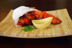Broiled Lobster Tails & Baked Sweet Potato Fries