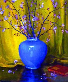 Jean Mannheim - Vase and Cherry Blossoms by irinaraquel, via Flickr
