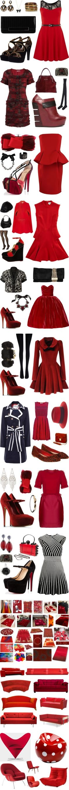 """#Red"" by leiastyle on Polyvore"