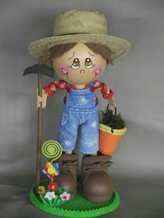Eva Flower Pot Art, Clay Flower Pots, Flower Pot Crafts, Clay Pot Projects, Clay Pot Crafts, Diy Projects To Try, Flower Pot People, Clay Pot People, Painted Clay Pots