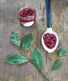 Making preserves with frozen fruit: Bay-Infused Currant Sour Cherry Jam with Almond - TheMessyBaker.com