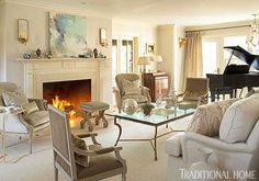 New England Home with Hushed Holiday Palette | Traditional Home