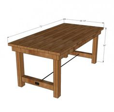 Happier Homemaker Farmhouse Table. Free Plans, Project Costs 90 Bucks.  Sweet! Diy Dining TablePatio ...