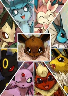 All the Eevee evolutions