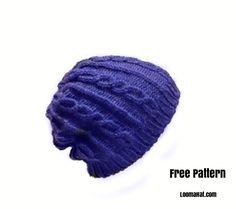 Free Loom Knit Hat Pattern for Men