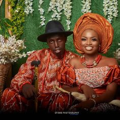 """Abuja Lifestyle Blogger🇳🇬 shared a photo on Instagram: """"Exactly 3 weeks today since our traditional wedding 😍 • Cheers to forever @olukoyabolaji 🥂🥂🥂 •…"""" • See 308 photos and videos on their profile. Burnt Orange Weddings, Aso Ebi, Traditional Wedding, African Fashion, Color Combinations, This Is Us, Cool Style, Asos, Photo And Video"""