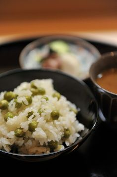 Japanese Rice with Peas 豆ご飯