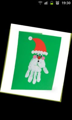 Santa hand beard