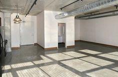Exposed Concrete, Polished Concrete, Concrete Floors, Toronto Lofts, Lofts For Rent, Bedroom Corner, Rental Listings, Rooftop Terrace, Floor To Ceiling Windows