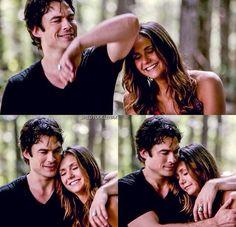 Elena hallucinating Damon in her grief