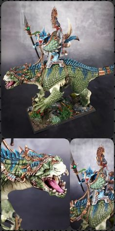 Seraphon Colour Scheme - Seraphon Color Scheme - 9 color motifs with reference images Warhammer Paint, Warhammer Fantasy, Warhammer Aos, Mini Paintings, Cool Paintings, Horse Paintings, Pastel Paintings, Lizardmen Warhammer, Sunset Color Palette