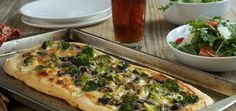 White Pizza with Broccoli and Mushrooms , Chef'd | Chef'd