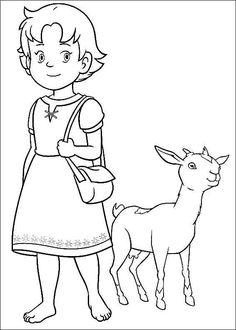 Girl coloring pages for girls places to visit - Coloriage heidi ...