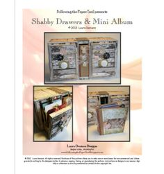 shabby drawers pattern cover