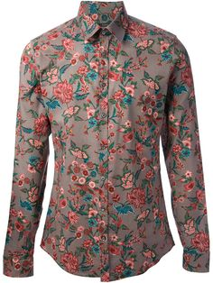 7d6a6d4ed87 Gucci Floral Print Shirt in Purple for Men (grey)