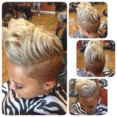 She wanted a gray tint . ❤️ she left a satisfied client Dope Hairstyles, Short Black Hairstyles, My Hairstyle, Indian Hairstyles, Shaved Hairstyles, Love Hair, Gorgeous Hair, Great Hair, Short Sassy Hair