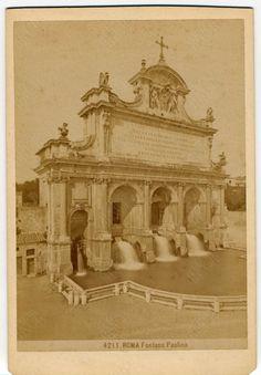 Roma. Fontana Paolina 1860