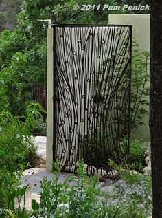 Gate by Chris Levack of Austin. Stratford Drive garden | Digging