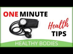 Blood Pressure Readings Explained | One Minute Health Tips - YouTube