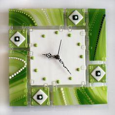 Fusionados con el reloj de pared de vidrio por veronicaartglass