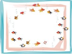 Swimming Fish Frame PPT Backgrounds