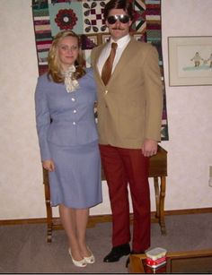 Ron burgundy couples Halloween costume!!