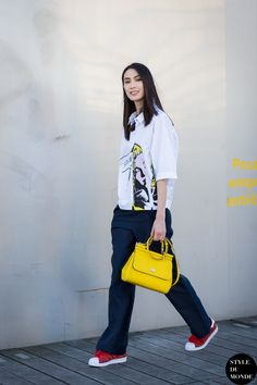 Paris Fashion Week FW 2015 Street Style: Dylan Xue