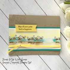 by the bay stampin up Bird Theme, Sea Theme, Retirement Cards, Hand Stamped Cards, Time To Celebrate, Masculine Cards, Stamping Up, Homemade Cards, Stampin Up Cards