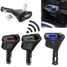 D, Car Kit Bluetooth Hands- FM Transmitter MP3 Player USB Charger
