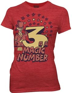 This officially licensed Ladies School House Rock shirt features Three Is A Magic Number.    Fabric Details  Color: Red  50% cotton / 50% polyester  Our Price: $17.95  - See more at: http://www.oldschooltees.com/Ladies-School-House-Rock-Three-A-The-Magic-Number-p/shr010.htm#sthash.wYdEVLmO.dpuf