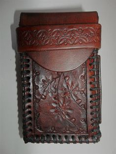 Leather Cigarette Case  Brown Kings by WolfandHammer on Etsy, $35.00