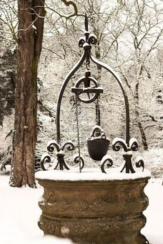 Snowy Wishing Well