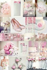 Inspiracje ślubne w pudrowym różu - Zestawienia