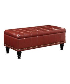 Loving this Crimson Caldwell Storage Ottoman on #zulily! #zulilyfinds