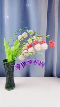 Diy Crafts Hacks, Diy Crafts For Gifts, Paper Crafts For Kids, Diy Home Crafts, Creative Crafts, Paper Flowers Craft, Paper Crafts Origami, Flower Crafts, Diy Flowers
