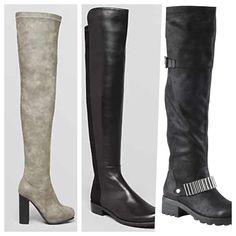 "While the ""It"" shoe at all of the summer music festivals may have been the bootie, with fall descending at a fast and furious pace, there's a new showstopper getting some serious attention: the knee-high boot. This sexy-yet-classy, calf-covering staple can be worn with everything from a skirt suit at the office to a flirty frock on a Friday night. And, even if you're not a knee-bearing gal, you can slip a pair of these babies over your skinnies for a polished look #fall must have!✌"
