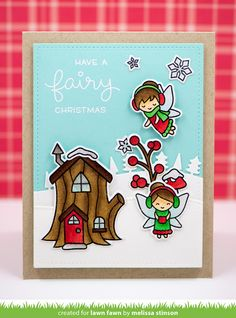 the Lawn Fawn blog: Frosty Fairy Friends  Card by Melissa Stinson.