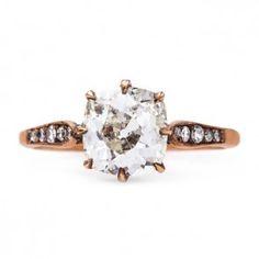 Handmade Vintage Inspired Solitiare Engagement Ring   Meridian Rose Gold from Trumpet & Horn