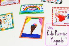 Diy Kids Painting Magnets! | Ef Zin Creations